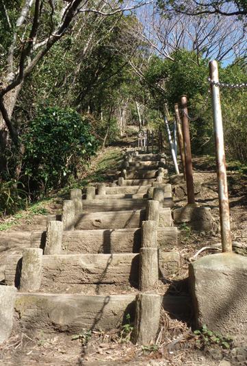 急な階段より先は、アップダウンが増えるので慎重に!