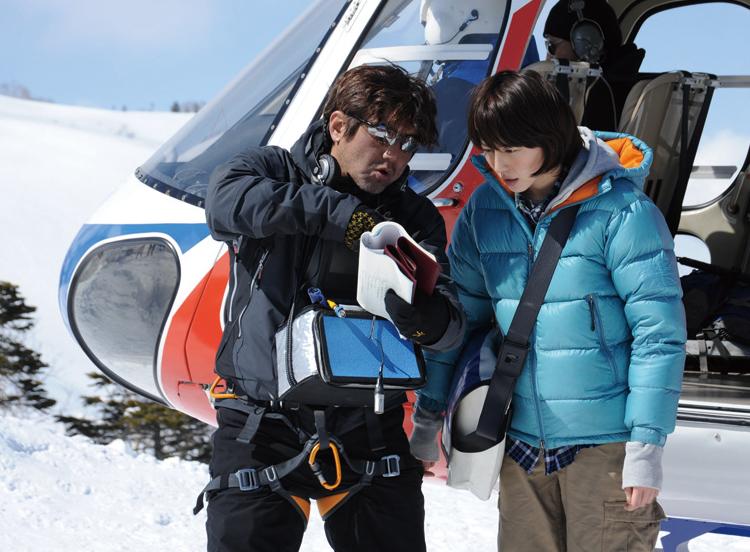 ヒロイン・椎名久美役の長澤まさみさんと片山監督